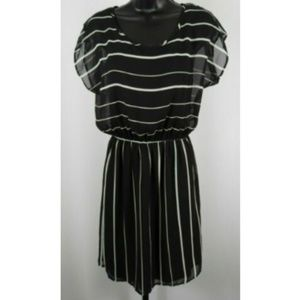 Necessary Objects Black & White Striped Dress